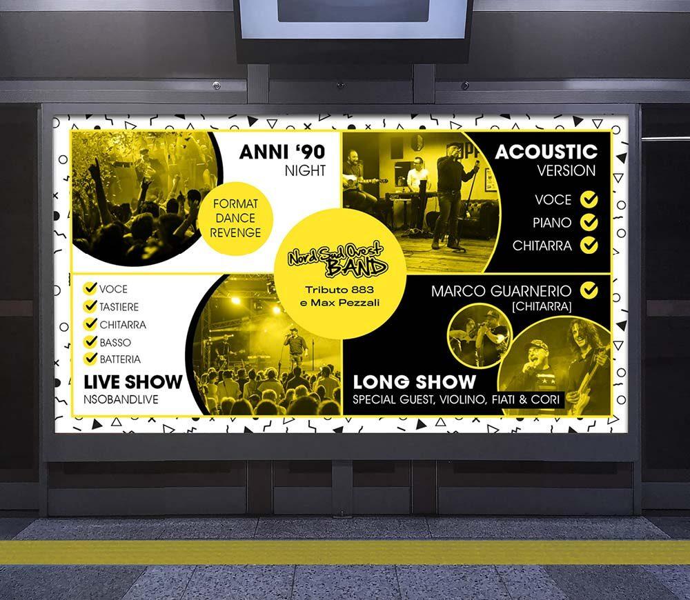 Grafiche promozionali tribute band